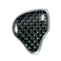 Plain Carbon with Green Fiber